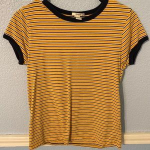 A striped forever 21 shirt